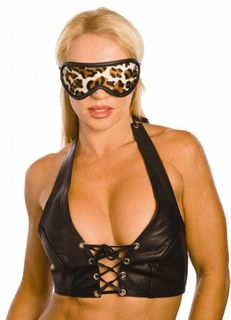 Furry Animal Print Blindfold