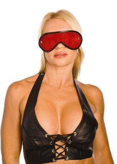 Red Suede Leather Blindfold