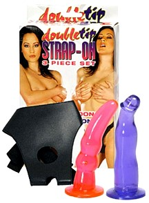 Double Tip Strap On Dildo