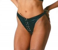Leather Laced Front G-string