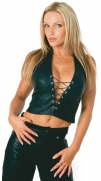 Leather Halter Top