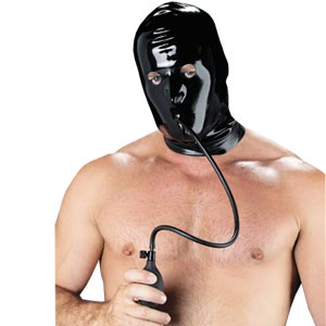 Rubber Secrets Mask with Inflatable Gag